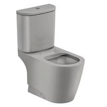 Vaso Sanitário com Caixa Acoplada 3/6L Saída Vertical Rimless Cinza Incepa