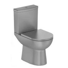Vaso Sanitário com Caixa Acoplada 3/6L Saída Vertical Smart Cinza Celite