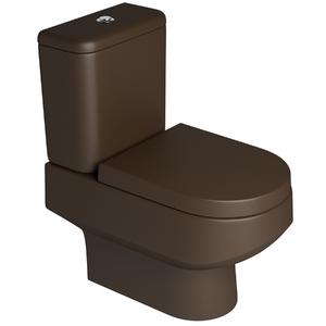 Vaso sanit rio com caixa acoplada carrara marrom fosco for Modelos sanitarios