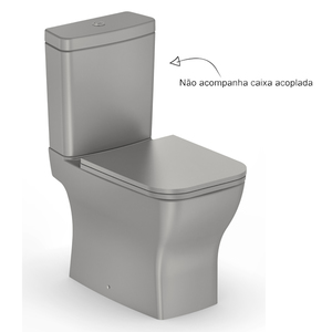 Vaso Sanitário para Caixa Acoplada Boss Cinza Incepa