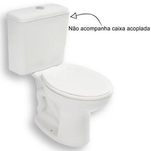 Vaso Sanitário para Caixa Acoplada Branco Eco Plus Roca