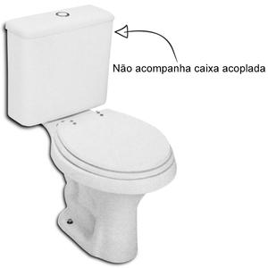 Vaso Sanitário para Caixa Acoplada Branco Parati Logasa