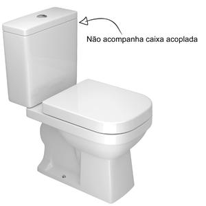 Vaso Sanit Rio Para Caixa Acoplada Branco Quadra Deca