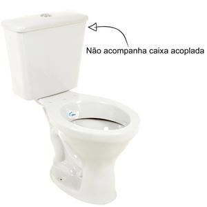Vaso Sanitário para Caixa Acoplada Cinza Claro Sabará Icasa