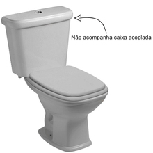 Vaso Sanitário para Caixa Acoplada Cinza Fit Celite
