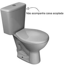 Vaso Sanitário para Caixa Acoplada Cinza Real Izy Deca