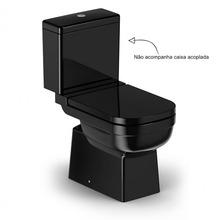 Vaso Sanitário para Caixa Acoplada Saída Vertical Elite Preto Celite
