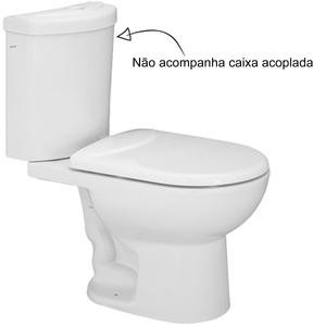 Vaso Sanitário para Caixa Acoplada Luna Branco Icasa