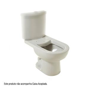 Vaso Sanitário para Caixa Acoplada Luna Cinza Claro Icasa