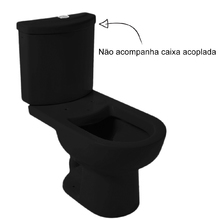 Vaso Sanitário para Caixa Acoplada Luna Preto Icasa