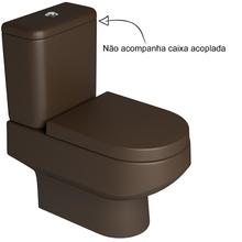 Vaso Sanitário para Caixa Acoplada Marrom Fosco Carrara Deca