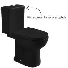 Vaso Sanitário para Caixa Acoplada Preto Etna Icasa