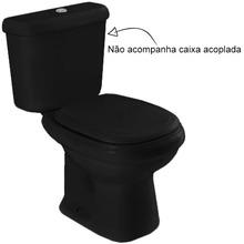 Vaso Sanitário para Caixa Acoplada Preto Sabatini Icasa