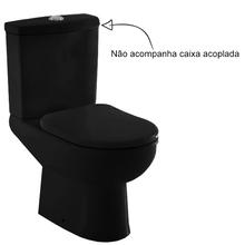 Vaso Sanitário para Caixa Acoplada Preto Smart Celite