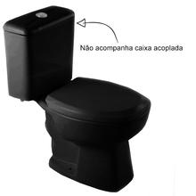 Vaso Sanitário para Caixa Acoplada Preto Thema Plus Incepa