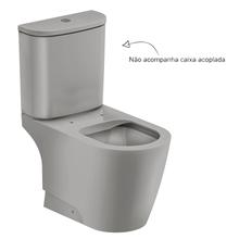 Vaso Sanitário para Caixa Acoplada Rimless Cinza Incepa