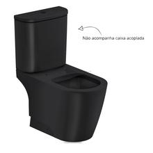 Vaso Sanitário para Caixa Acoplada Rimless Preto Incepa