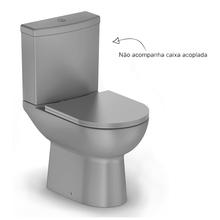 Vaso Sanitário para Caixa Acoplada Smart Cinza Celite