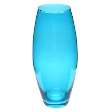 Vaso Vidro Oval Azul Pequeno