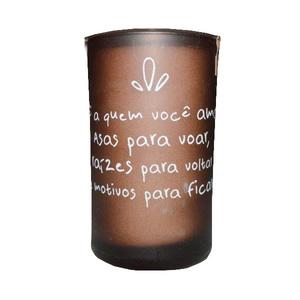 Vela Aromatizada Frases Chocolate e Caramelo 5x10cm
