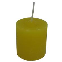 Vela Cilíndrica Mini Amarela 4,2cm