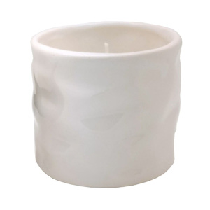 Vela de Cerâmica Vaso Aromatizada Sândalo Branca
