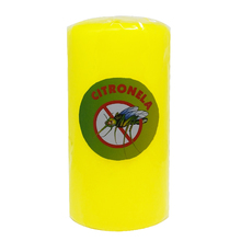 Vela Repelente Citronela Amarela 15x8cm