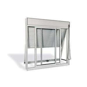 Veneziana Aluminio Acetinado 3 Folhas S/Grade 120,00 X 120,00 X 14,00 Cm  Sasazaki