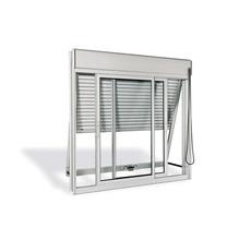 Veneziana Aluminio Branco 3 Folhas S/Grade 120,00 X 120,00 X 14,00 Cm  Sasazaki