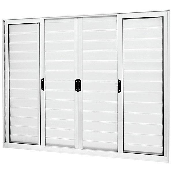 janela de correr veneziana de alum nio 1 20x2 00m branco mais atl ntica leroy merlin. Black Bedroom Furniture Sets. Home Design Ideas