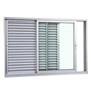 Veneziana Correr Aluminio Branco 3 Folhas S/Grade 120,00 X 120,00 X 10,40 Cm Eterna Gravia
