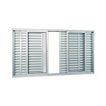 Veneziana Correr Aluminio Branco 6 Folhas S/Grade 120,00 X 200,00 X 12,00 Cm Aluminium Sasazaki