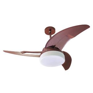 Ventilador de Teto Biplano Plus Air Design 3 pás Castanho 110V