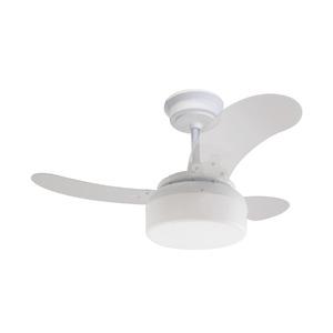 Ventilador de Teto Clear Fit Air Design 3 pás Cristal e Branco 110V