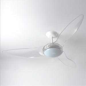 Ventilador de Teto LED Terral Aliseu 3 pás Transparente 110V