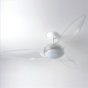 Ventilador de Teto LED Terral Aliseu 3 pás Transparente 220V
