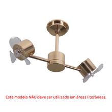 Ventilador de Teto sem Luminária 3 Pás Cobre Style Inspire Bivolt