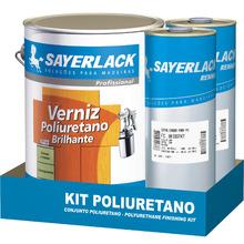 Verniz Kit  Sayerlack Poliuretano Bicomponente  Brilhante Incolor 3,6L