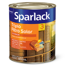 Verniz Triplo Filtro Solar Acetinado Natural 900ml Sparlack