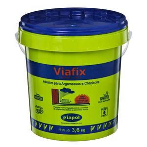 Viafix Líquido Branco Uso Emulsor Adesivo Densidade 1 a 1,03 G/ML PH 4 a 5 Viscosidade 10 a 20 CPS Fornecimento Galão 3,6 L Viapol