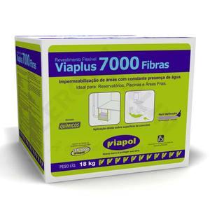 Viaplus 7000 Fibras Caixa com 18Kg Viapol