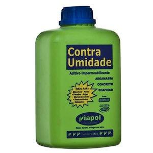 VIAPOL CONTRA UMIDADE LIQUIDO BRANCO USO ADIT IMPERMEAB DENSIDADE 1,000 A 1,050 G/CM3 PH 10,0 A 12,0 VISCOSIDADE 100 A 600 CPS FRASCO 1L VIAPOL