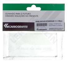 Vidro 51X108 Retangular Incolor 12251212 Carbograf