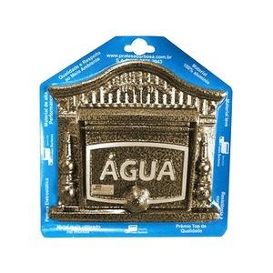 Visor de Água para Muro Dourado 20x20x3cm Prates & Barbosa