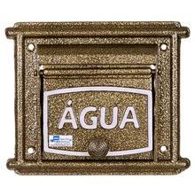 Visor de Água para Muro Dourado Reto 20x20x3cm Prates & Barbosa