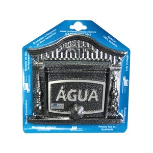 Visor de Água para Muro Prata 20x20x3cm Prates & Barbosa