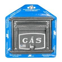 Visor de Gás para Muro Prata Reto 20x20x3cm Prates & Barbosa
